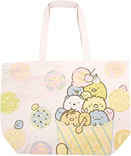 San-X Sumikko Gurashi 棉质帆布海滩手提袋环保袋冰淇淋日本进口 K-5411A