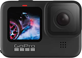 GoPro HERO 9 黑色 - 防水运动相机带前 LCD 和触摸后屏幕,5K 超高清视频,20MP 照片,1080p 实时流媒体,网络摄像头,稳定