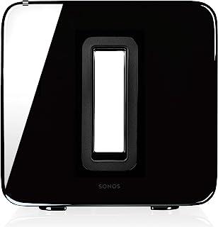 Sonos 搜诺思 SUB I 低音炮,适用于 Sonos 搜诺思智能扬声器系统(黑色)。 黑色