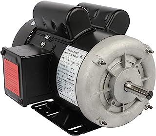 Cuilvu 2HP 空气压缩机电动机,单相农业机,5/8轴直径 CW/CCW,TEFC,IP55,60HZ,3450RPM,115/230V