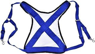 实用的超轻钓鱼背心,腰带可调节肩带*带装备,适用于钓鱼大鱼(蓝色 + 白色)