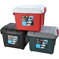 Yuecar 悦卡 汽车收纳箱 车载后备箱储物箱 环保整理箱 车用置物箱 用品 (800, 双扣款墨绿色)