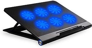 """SiKER 14""""-17"""" 笔记本电脑冷却器 - 超薄笔记本电脑冷却垫,带涡轮双风扇(2 个风扇)S19"""