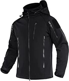 MAGNIVIT 男式战术夹克 8 口袋冬季防水徒步夹克外套软壳军装夹克
