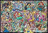 Tenyo 拼图 1000片 Disney Princess 迪士尼公主系列 花窗玻璃 立式 51.2×73.7厘米