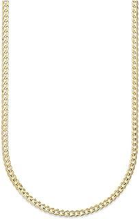 18 克拉纯黄金 2 毫米古巴链锁链项链 - 18K 纯金 - 意大利制造