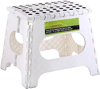 Greenco *可折叠踏凳适合成人和儿童 - 高 27.94 cm,可容纳 300 磅 白色 GRC0050B