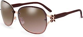 清新水晶优雅太阳镜,女式时尚设计师款臂 UV400 渐变色镜片金属框架