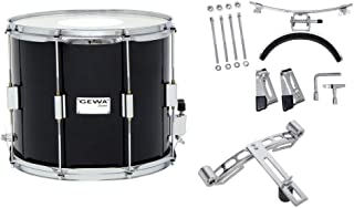 Gewa 891112 Marching Snare Parade 木壳钢箍,黑色,35.56 x 30.48 厘米