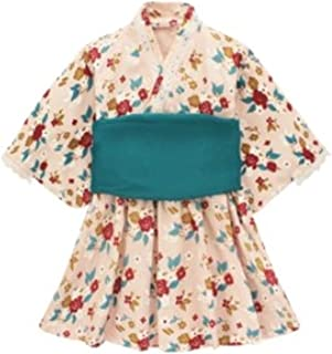 Micha豪华儿童连衣裙 浴衣 女孩 女孩 棉 浴袍 礼服 服装 夏季 传统 带子 摄影小道具