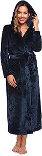Hawiton 女式长款睡袍冬季连帽浴袍休闲睡衣带口袋