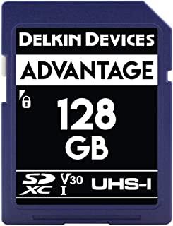 Delkin 德尔金 Devices 128GB Advantage SDXC UHS-I (V30) 内存卡 (DDSDW633128G)