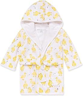 Burt's Bees 女婴浴袍,婴儿连帽睡袍,吸水针织厚绒布,* *棉,0-9 个月