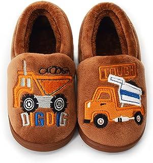 ENERCAKE 幼儿男孩女孩房屋拖鞋卡通恐龙温暖家居鞋室内卧室