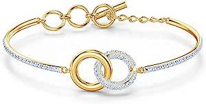 SWAROVSKI 施华洛世奇 正品 宝石 手镯 混合镀金 中号