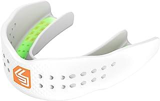 Shock Doctor 护齿器 SuperFit – 易于穿戴的肩带/无肩带 – 低调,适合篮球、曲棍球、曲棍球、曲棍球、长曲棍球、 – 所有运动