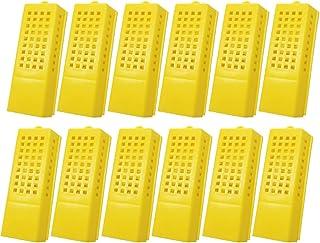 APlayfulBee 塑料皇后蜂笼 12 件运输捕蜂器养蜂用品放奶杯套件运输捕手昆虫盒养蜂器设备工具