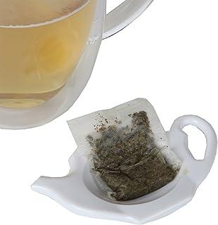 Home-X 茶壶形状茶包支架 - 4 件套
