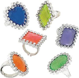 Unique Party 84796 - 塑料宝石戒指派对袋填料,24 件装