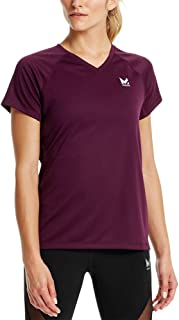 Mission 女式 VaporActive Alpha 短袖 V 领 T 恤 Potent 紫色 大