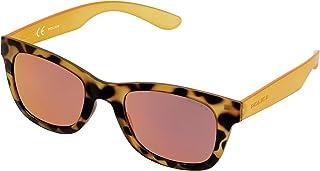 Police S1944 Exchange 1 旅行太阳镜 Light Orange Leopard Print & Transparent Orange Frame / Light Red / Pink Mirror Lens