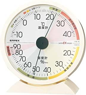 EMPEX 气象计 温度湿度计 高精度 通用设计 壁挂摆放均可 日本制造 白色 EX-2841