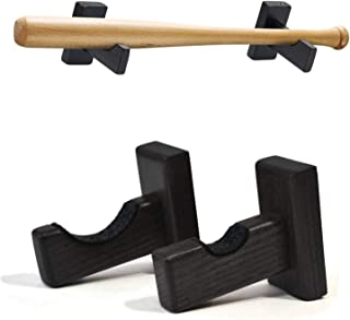 Untimaty 棒球蝙蝠架展示盒支架壁挂水平架支架挂钩,实木棒球蝙蝠支架挂钩隐形螺丝适用于垒球曲棍球棒棒球