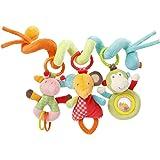Fehn 074451 婴儿挂饰 可活动弹簧状 织物材质/螺旋形 适用于婴儿床,婴儿车,游戏围栏,适用于0个月以上的婴幼…