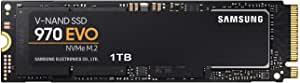 Samsung 三星 MZ-V7E1T0BW 970 EVO 1 TB V-NAND M.2 PCI Express固态硬盘,黑色