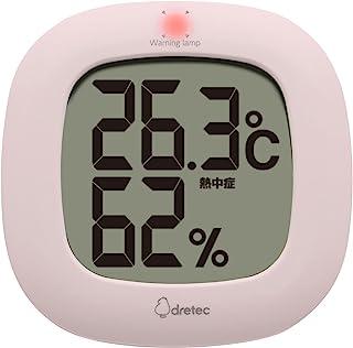dretec 温度计 粉色 W10.3×D1.8×H10.3cm O-295PK