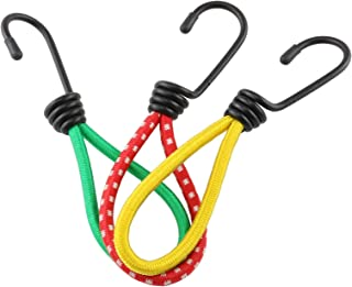 HJ Garden 3 件套单钩户外野营帐篷弹力绳弹性绳,适用于露营徒步、行李架、衣架