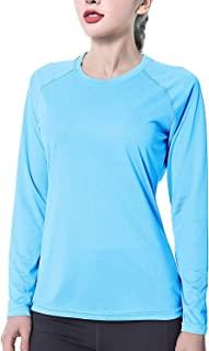 女式 UPF50+ 长袖 UV *衬衫 速干* 游泳 户外 T 恤 适合钓鱼跑步锻炼