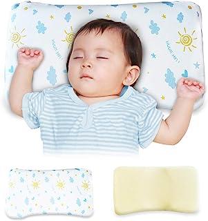 TITIROBA 婴儿枕 婴儿 baby 宝宝枕头 适用于更好的头型 朝向癖 直面头 斜头 变形 头型 更好 透气 吸汗 出生贺礼 男女通用 低反弹枕 睡秃对策 2件套 PL-C3日亚限定