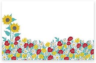 Farm Flowers Enclosure 卡片/礼品标签 - 3 1/2 x 2 1/4 英寸 - 50/包(1 件装)