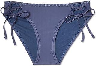 Xhilaration 女式Cheeky Hipster 侧系带比基尼泳裤