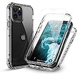 FLOVEME 兼容iPhone 12 Pro Max 透明5G,带 2 件装钢化玻璃,兼容 iPhone 12 Pro…