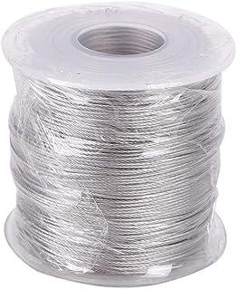 100 米电线绳,0.5/0.8/1 毫米不锈钢线飞机电缆柔软灵活电缆导轨套件
