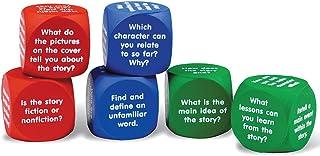Learning Resources 阅读理解多维数据集,6个彩色泡沫,适合6岁以上的人群,多色