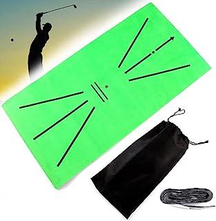 JIGEGE 高尔夫训练垫,迷你高尔夫击球垫,用于挥杆检测击球高尔夫练习训练辅助地毯,适合初学者和专业人士室内后院户外带包(11.9 英寸 X 23.6 英寸
