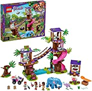 LEGO 乐高 41424 Friends 丛林救援基地套装 树屋动物兽医诊所