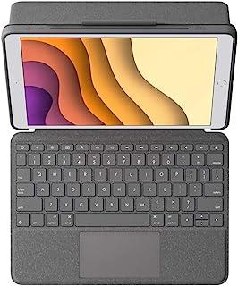 """Logitech 罗技 Combo Touch 适用于 iPad Air(*三代)A2152,A2123,A2153,A2154 和 iPad Pro 10.5"""" A1701,A1709,A1852,键盘保护套带跟踪板,可拆卸键盘,智能键盘 连..."""