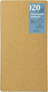 MIDORI TRAVELER'S Notebook 牛皮纸收纳内芯 标准型 020