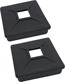 10.16 cm 方形橡胶保险杠插头盖盖 RV Camper 拖车 - 2 件装