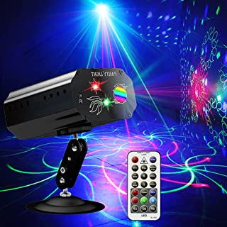 Disco Lights 派对灯,Rave Lights 迪斯科球 DJ 灯闪光灯舞台灯声音激活灯 LED 投影灯光束灯适用于圣诞节万圣节装饰礼物生日 KTV 酒吧