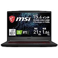 【搭载NVIDIA*新RTX3060・薄型轻量】MSI游戏笔记本PC GF65 1.86Kg i5 RTX3060/15…