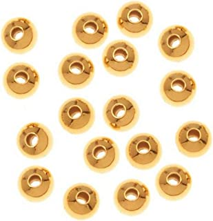 1000-Piece Round Beads, 3mm, Gold Plated