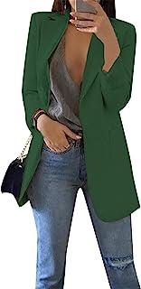 EFOFEI 女式粗花呢格子圆领夹克休闲修身长袖外套加大码