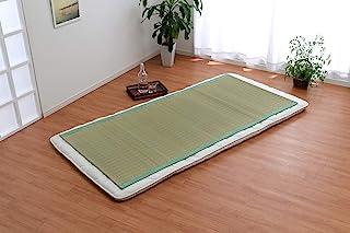 IKEHIKO 灯心草床垫 单人 白水 绿色 约88×180厘米 桧叶加工 日本制造 #6507909