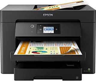 Epson 爱普生 WorkForce WF-7830DTWF 4 合 1 商务喷墨多功能设备(打印机扫描仪,复印机,传真,WiFi,以太网,NFC,全双工,单墨盒,至 DIN A3)黑色