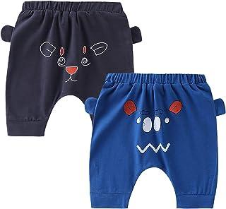 Mookiraer 婴儿*棉柔软袖口少哈伦裤短裤适合男婴女婴